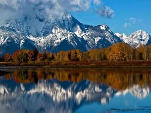29. グランドティトン国立公園のモラン山(アメリカ)