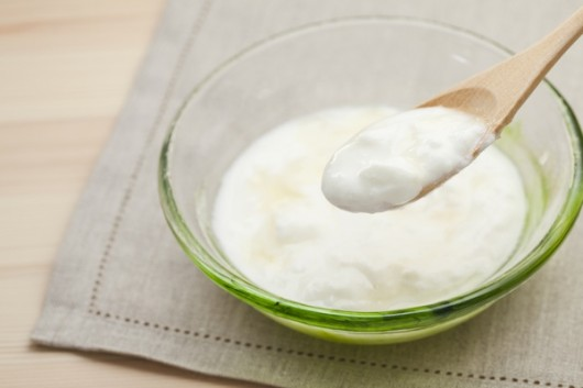 Yogurt and Wooden Spoon