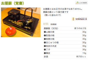 お屠蘇(覚書)_by_tm642215__クックパッド__簡単おいしいみんなのレシピが160万品
